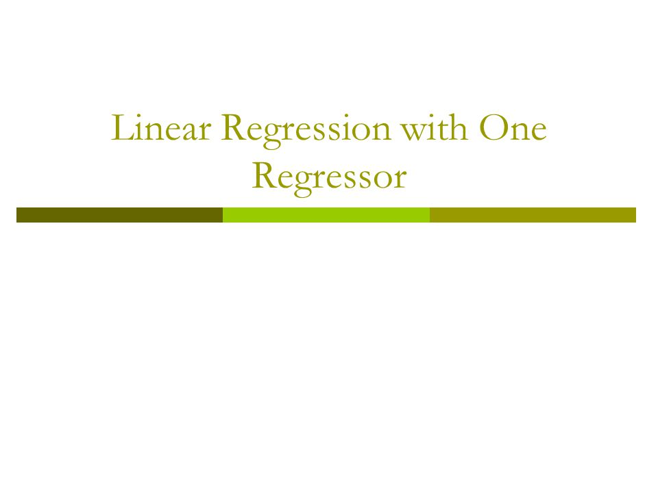 Probability Framework for Linear Regression The Probability framework for linear regression is summarized by the three least squares assumption.
