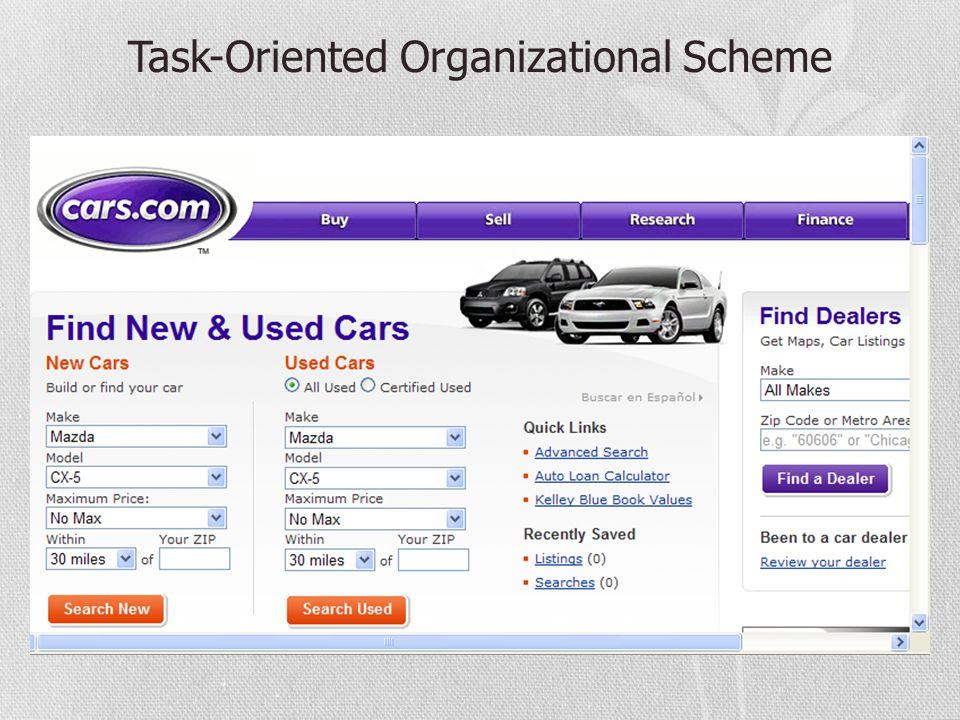 Task-Oriented Organizational Scheme