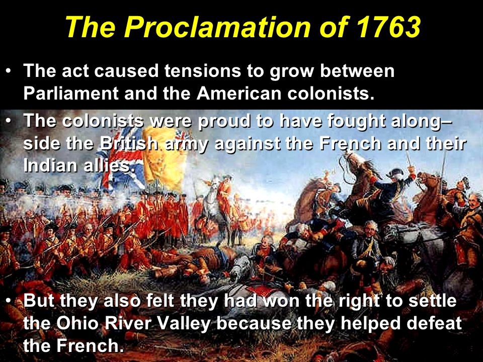 The act caused tensions to grow between Parliament and the American colonists.The act caused tensions to grow between Parliament and the American colonists.