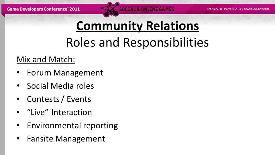 Community Relations Organizational Structure Models: Marketing Public Relations Operations Production / Development