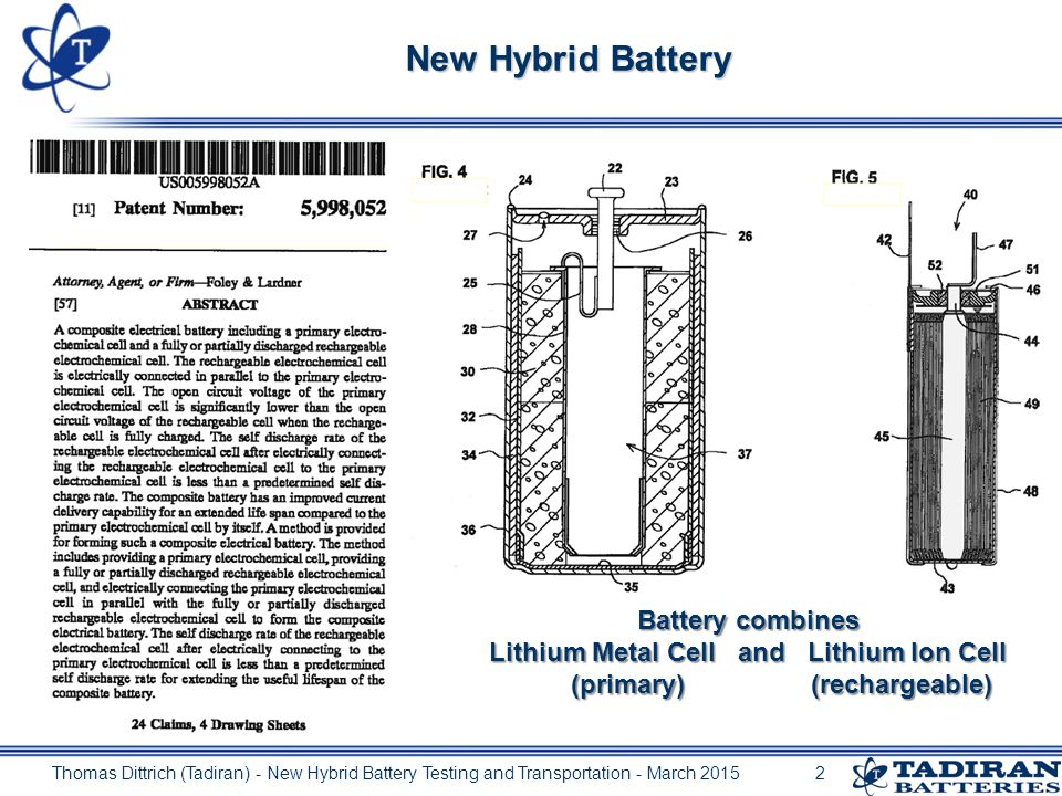 New cell technology spurs hybrid batteries: Testing of Lithium Batteries Containing Both Primary and Secondary Cells.