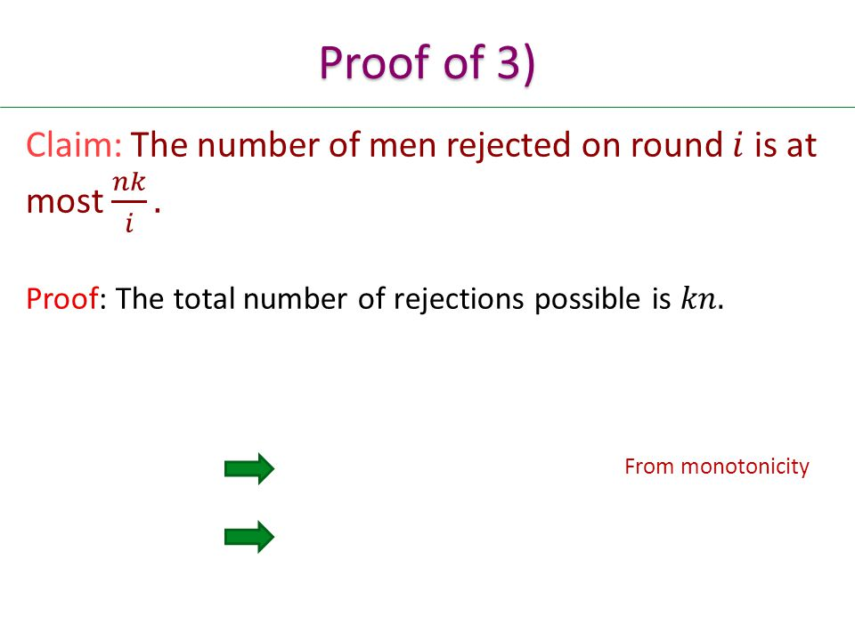 From monotonicity