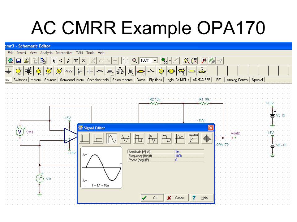 AC CMRR Example OPA170