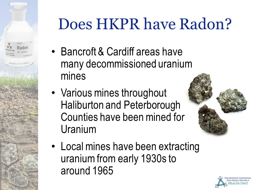 Does HKPR have Radon.