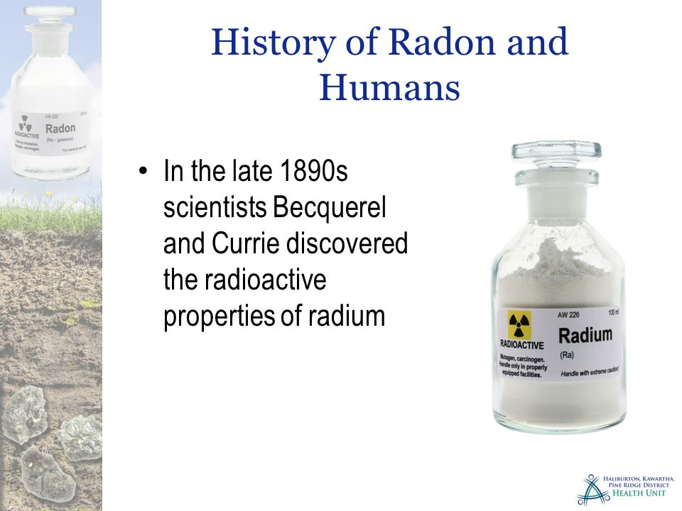 Why are we concerned about Radon.