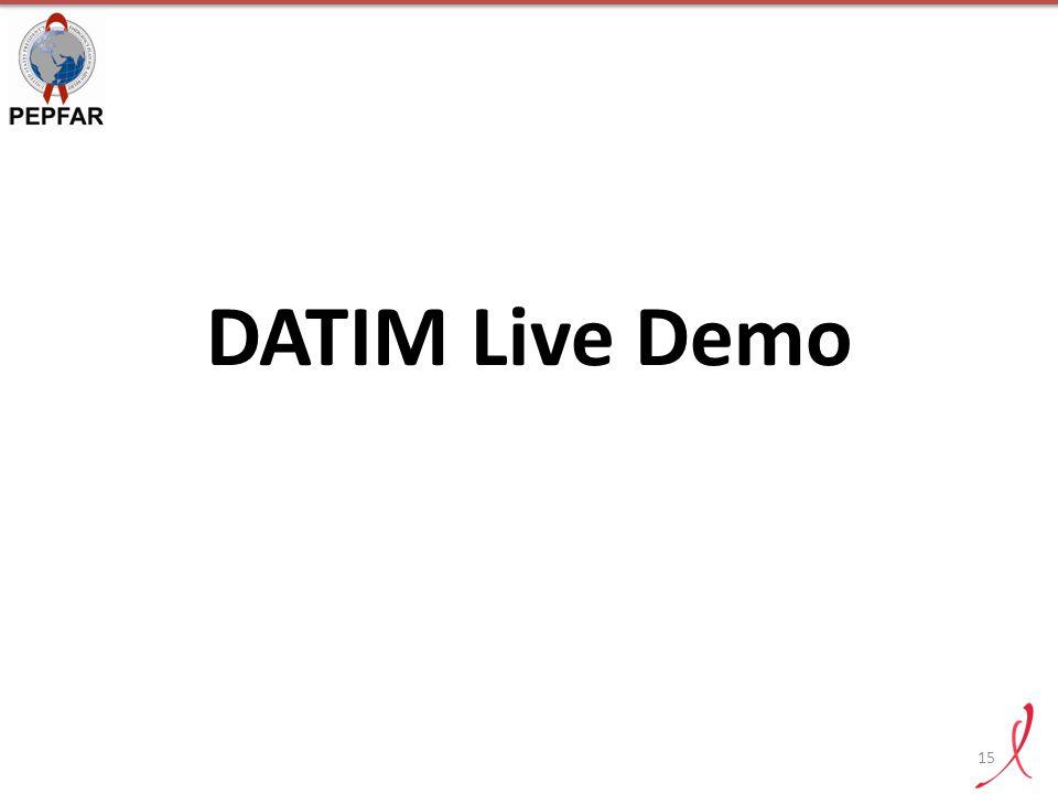 DATIM Live Demo 15