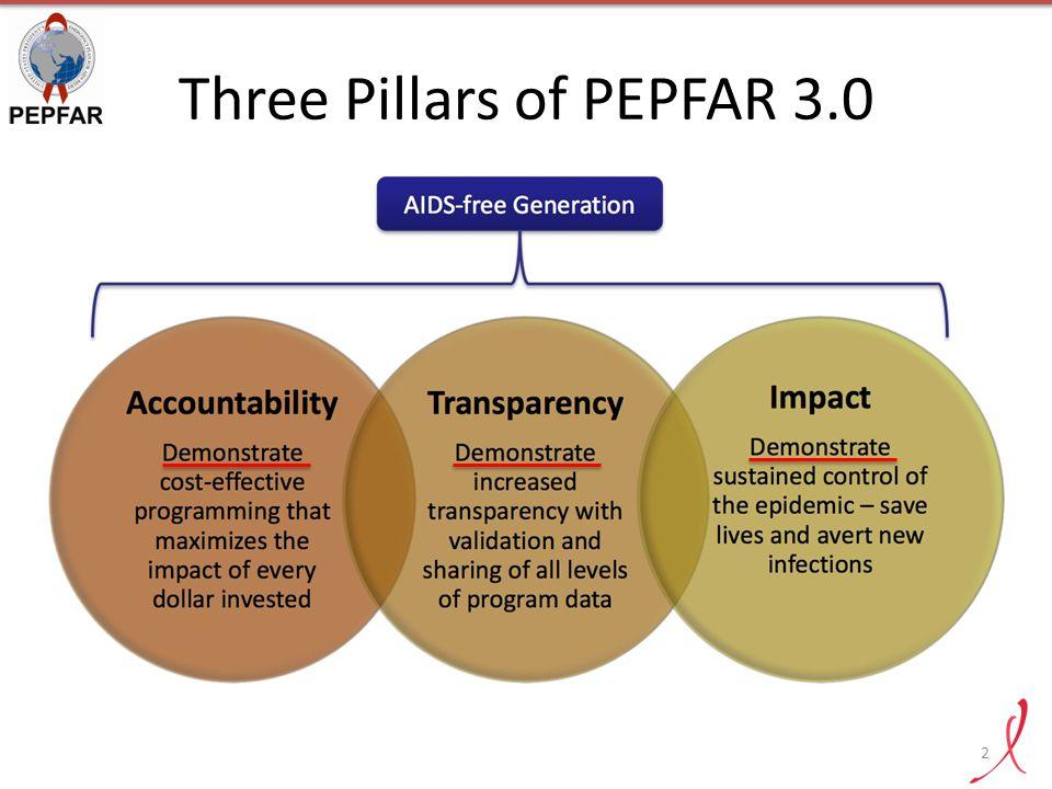 Three Pillars of PEPFAR 3.0 2