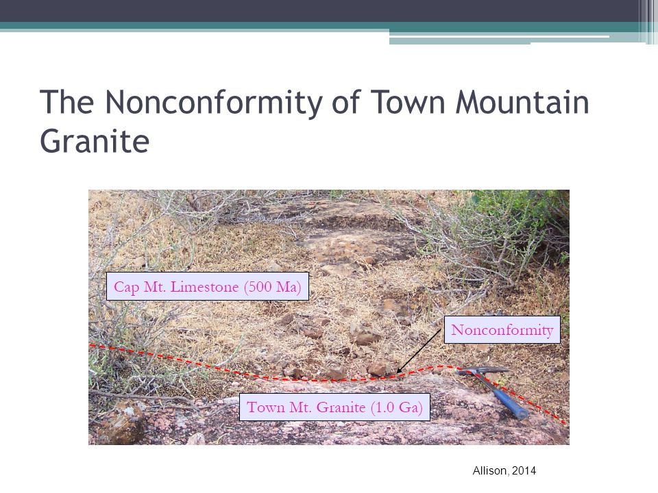 The Nonconformity of Town Mountain Granite Allison, 2014