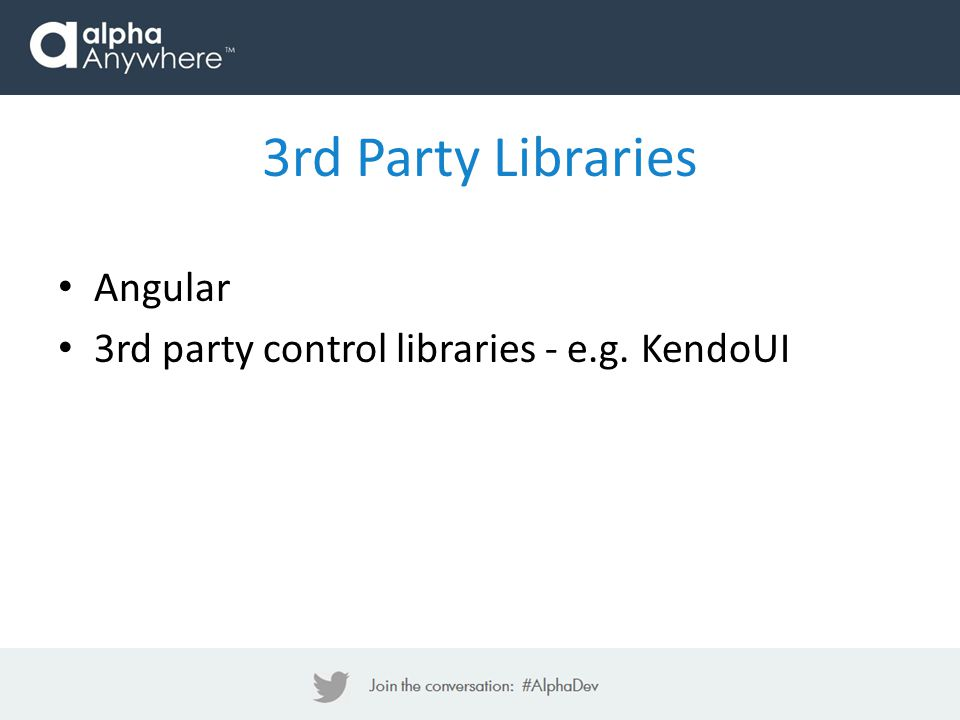 Angular 3rd party control libraries - e.g. KendoUI 3rd Party Libraries