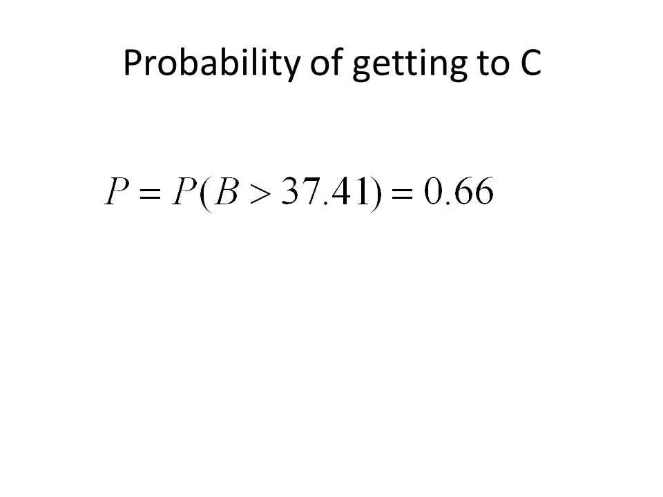 Probability of getting to C