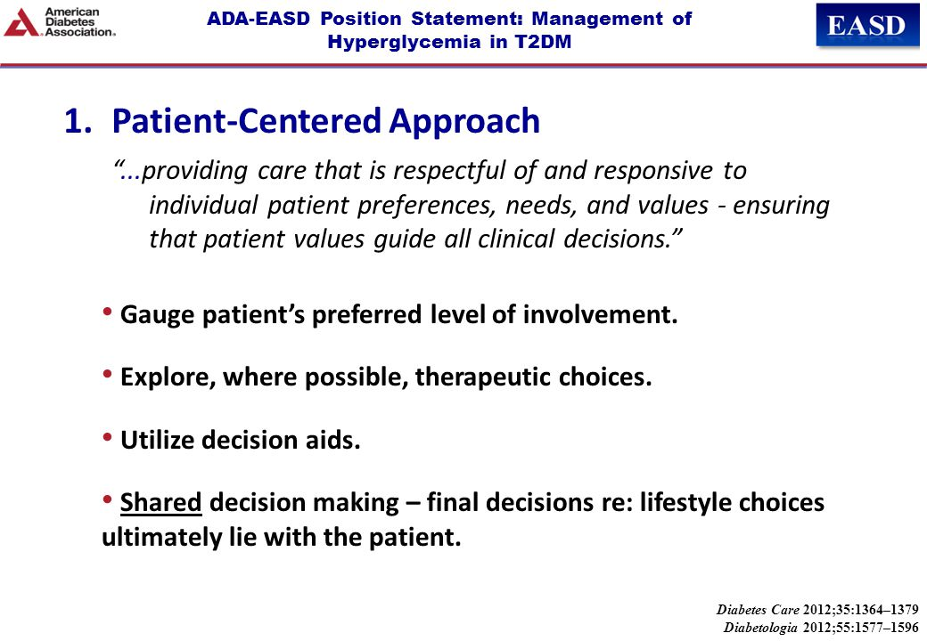 ADA-EASD Position Statement: Management of Hyperglycemia in T2DM 2.