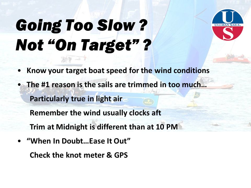 Going Too Slow .Not On Target .