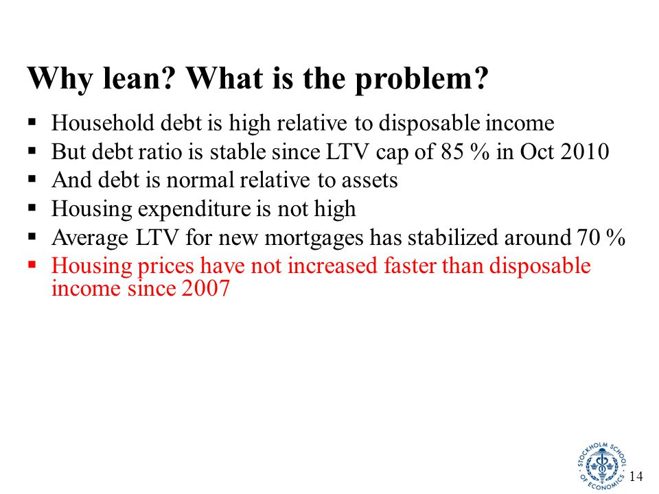14 Why lean. What is the problem.