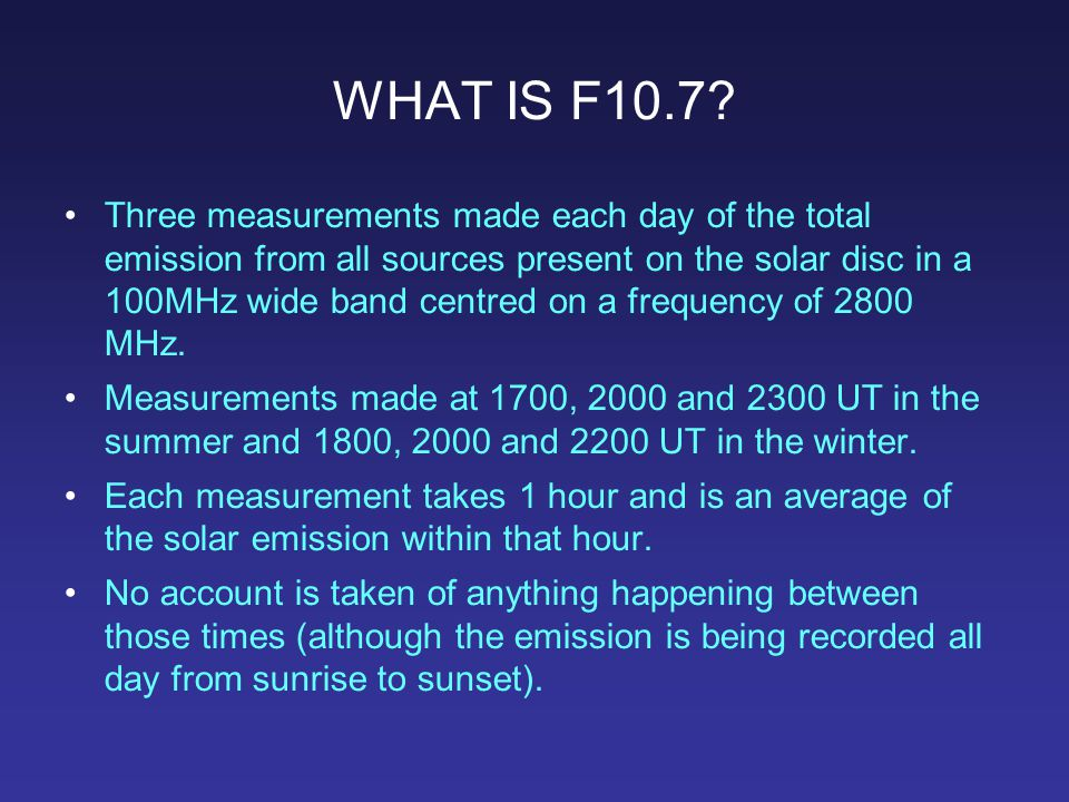 New Technology: The Next Generation Solar Flux Monitor F10.7 is a very useful index of solar activity, but it is a composite of up to three emission mechanisms; more specialized applications require those mechanisms to be separated, which in turn needs multiple-wavelength measurements.