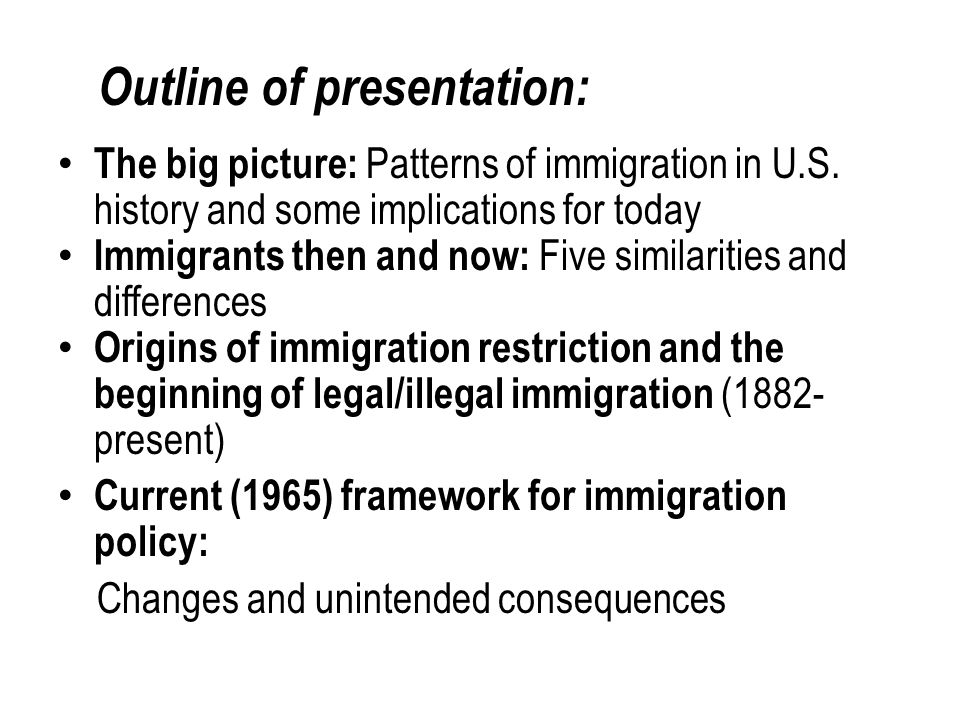 OTHER EXAMPLES OF RESTRICTING IMMIGRATION – 1891 barred insane, paupers, those persons suffering from contagious disease, felons, polygamists, and (after 1903) anarchists.