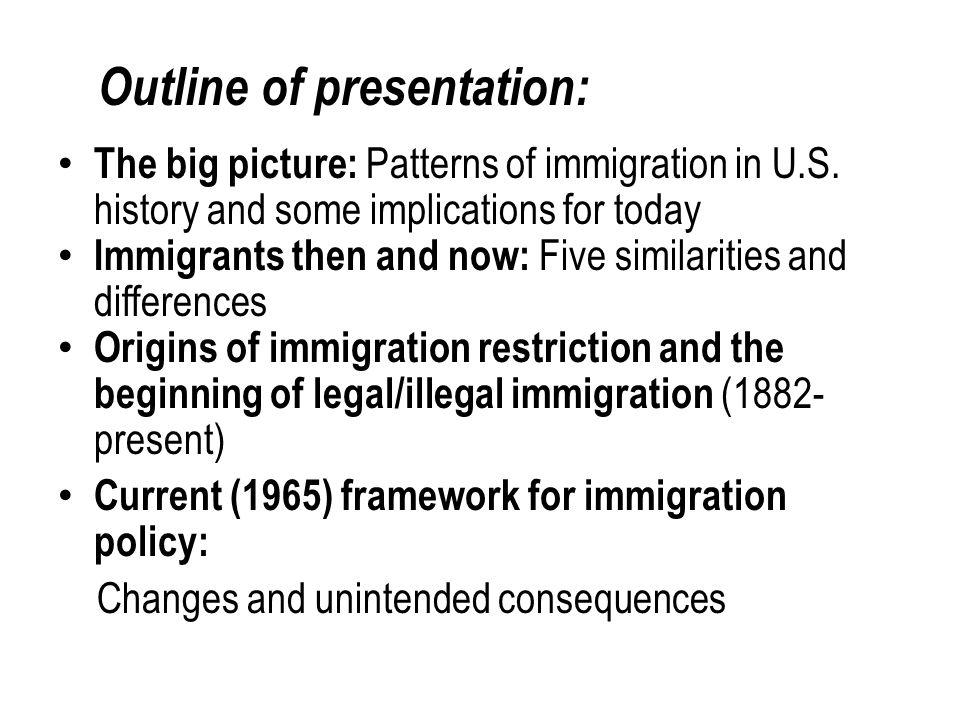 CLARIFYING TERMINOLOGY: Authorized immigration/unauthorized immigration Immigration and choice