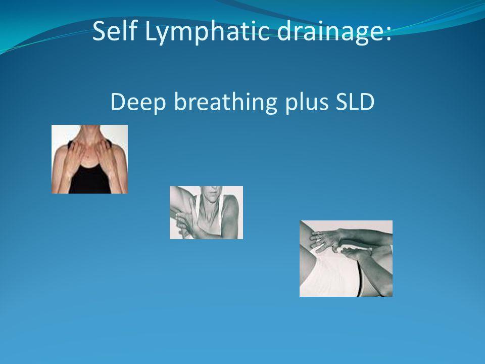 Self Lymphatic drainage: Deep breathing plus SLD