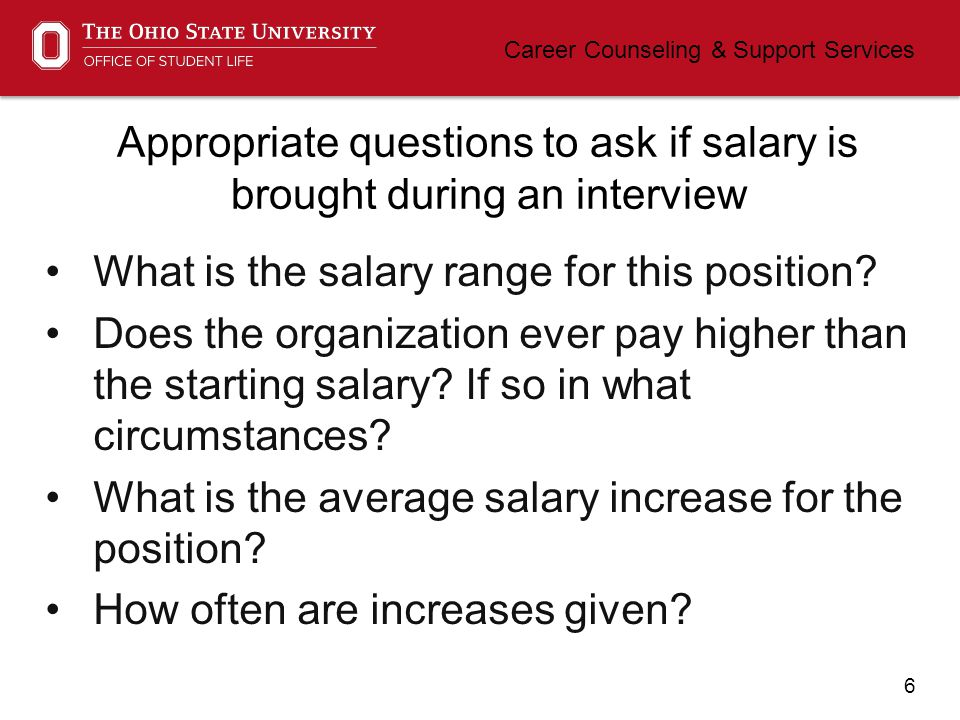 7 Career Counseling & Support Services Are salaries really negotiable.