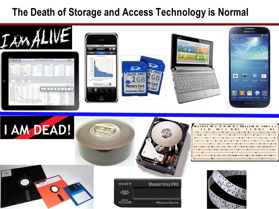 The Death of Storage and Access Technology is Normal 12