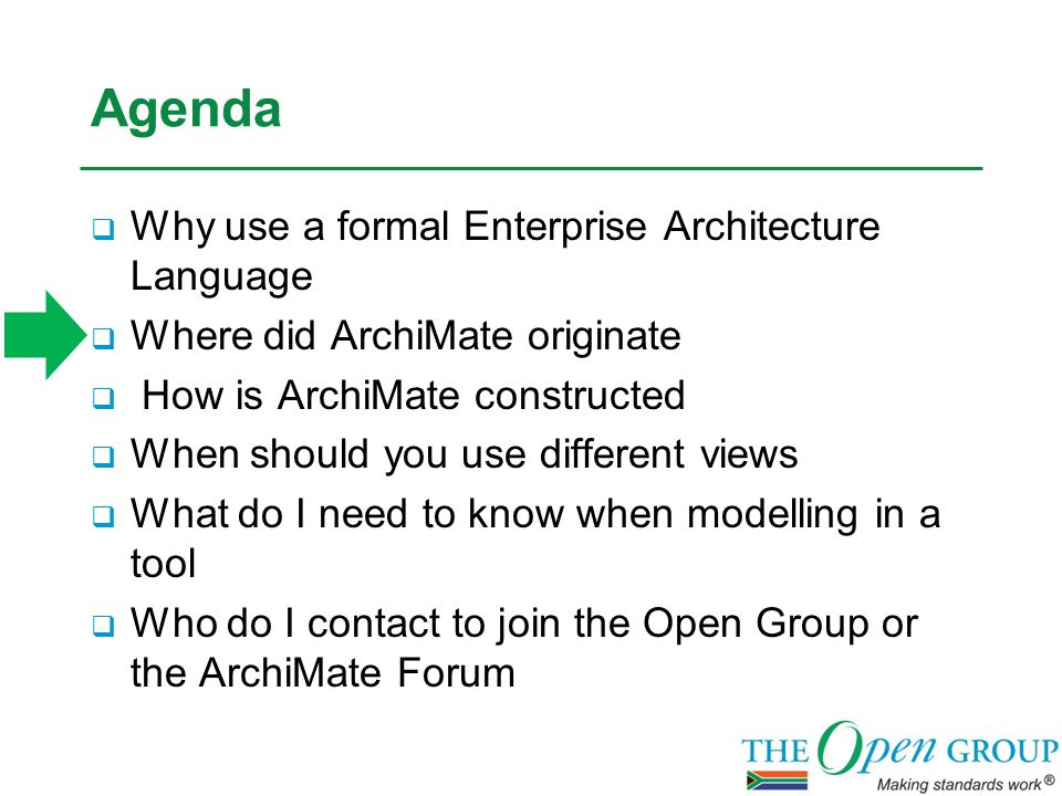 ArchiMate Informing Viewpoints These viewpoints help to inform any stakeholder about the enterprise architecture, in order to achieve understanding, obtain commitment, and convince adversaries.