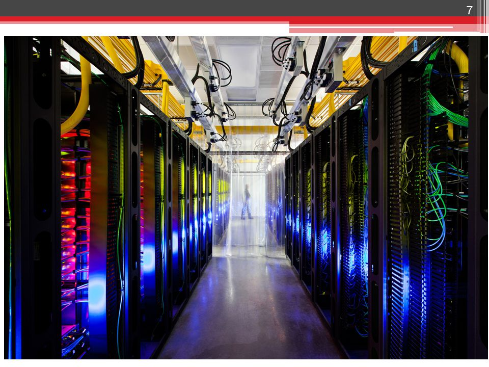 Dual Optical Networks Typical, packet switch network ▫ Connects all containers ▫ Oversubscribed ▫ Optical routers 38 Fiber optic flyway ▫ Optical circuit switch ▫ Direct container-to- container links, on demand