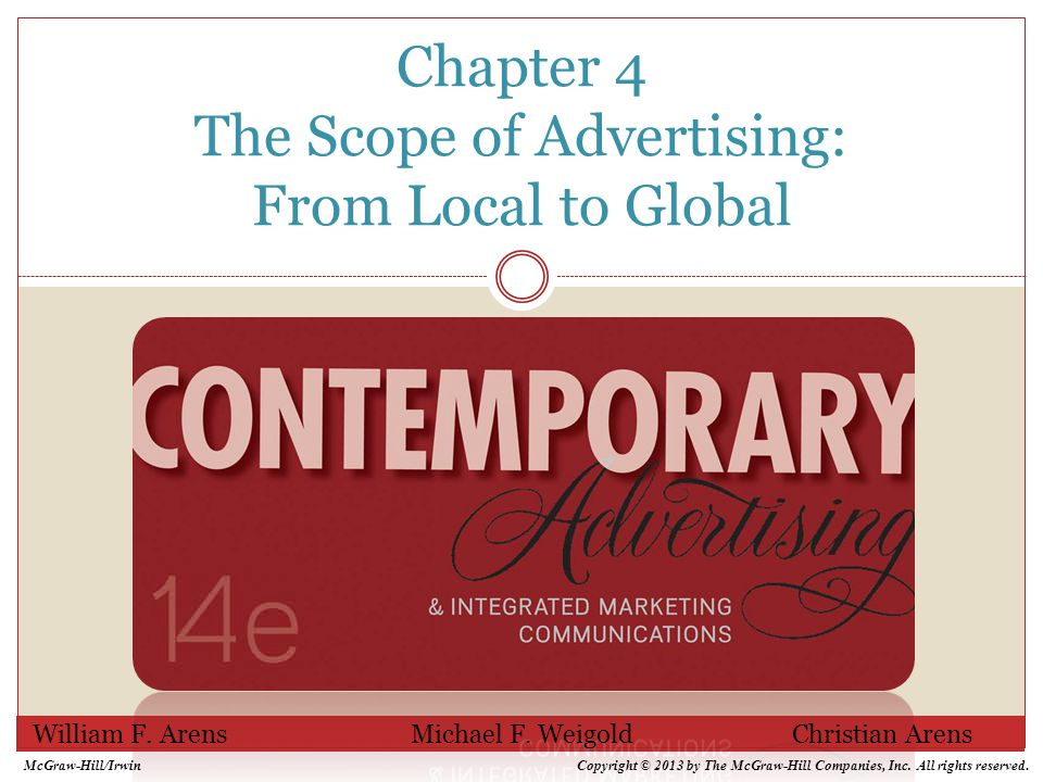 4-2 Chapter Overview Introduces the people and groups who work in advertising