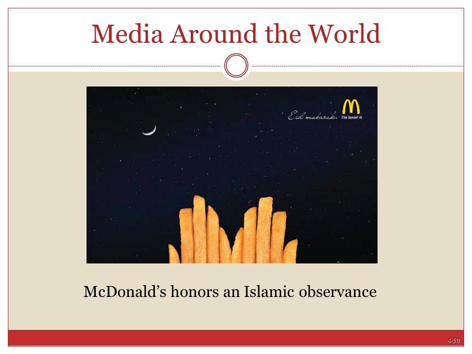 4-50 Media Around the World McDonald's honors an Islamic observance
