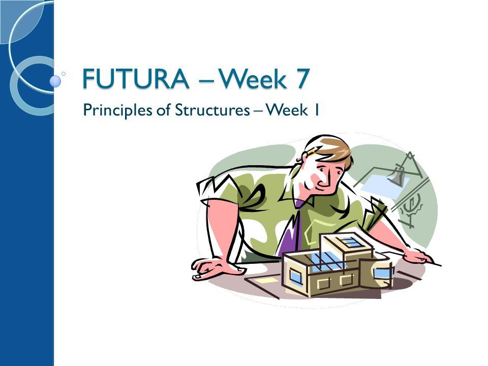 FUTURA – Week 7 Principles of Structures – Week 1