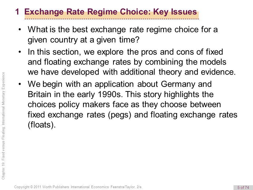 5 of 74 Copyright © 2011 Worth Publishers· International Economics· Feenstra/Taylor, 2/e. Chapter 19: Fixed versus Floating: International Monetary Ex