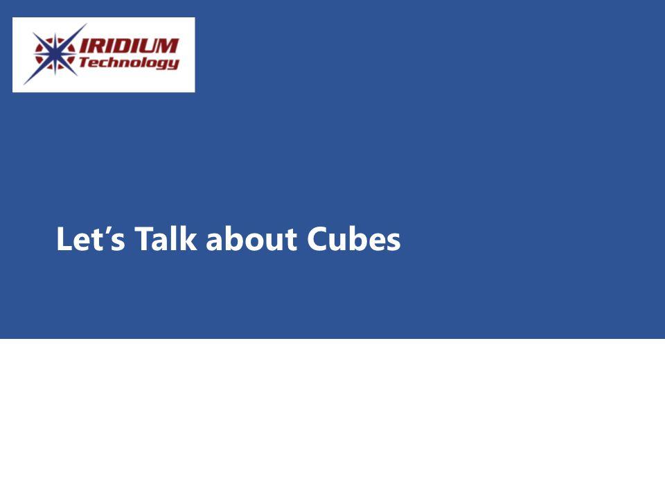 Let's Talk about Cubes