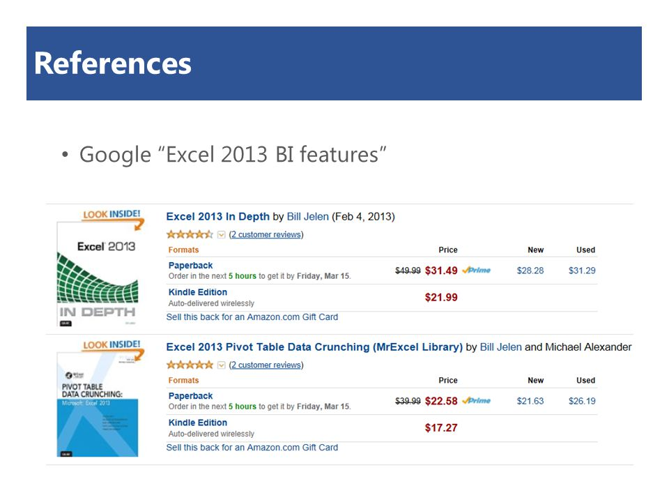 "References Google ""Excel 2013 BI features"""
