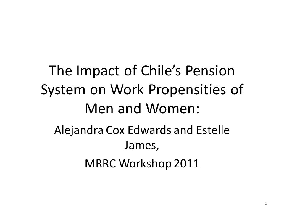 Chile's 1981 changed saving and financial markets.
