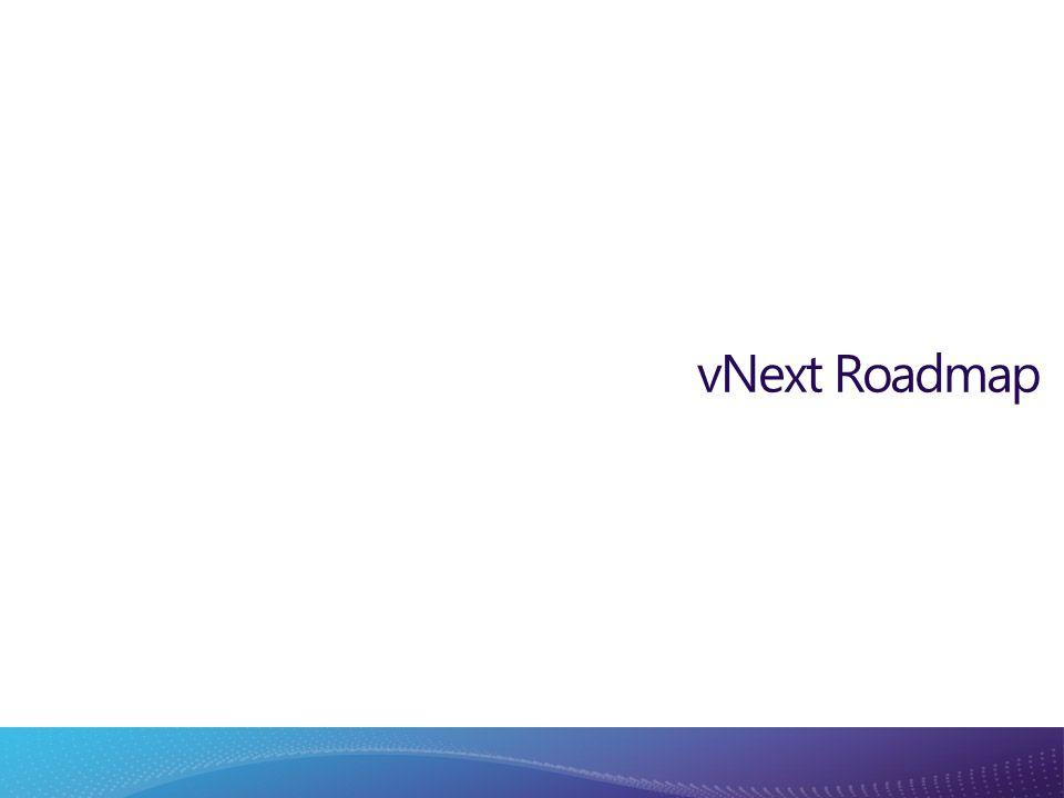 vNext Roadmap