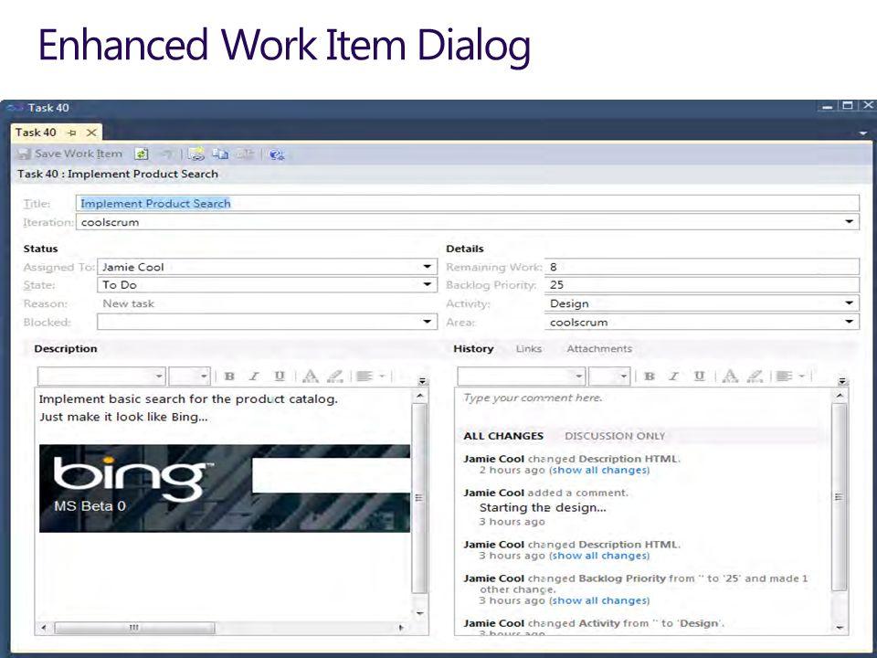 Enhanced Work Item Dialog