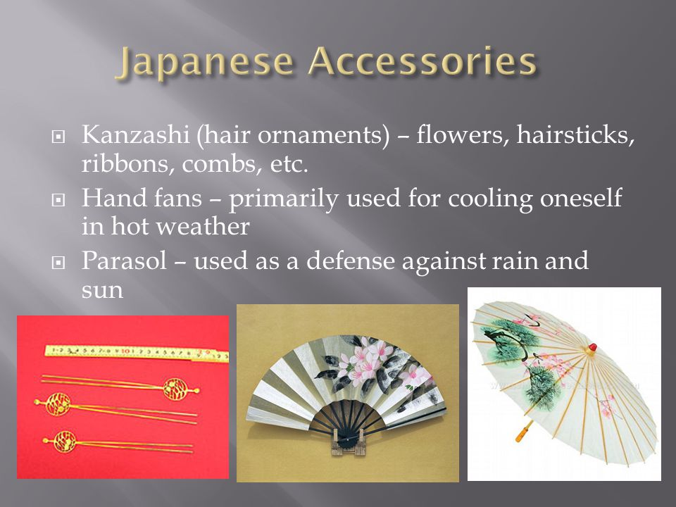  Kanzashi (hair ornaments) – flowers, hairsticks, ribbons, combs, etc.