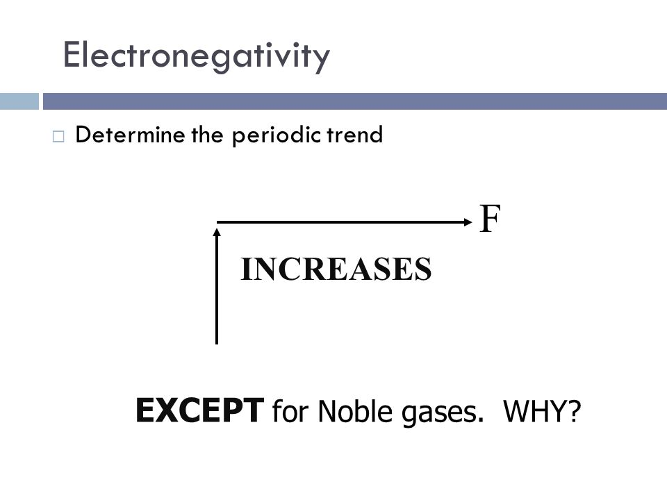 Electronegativity  Ability of an atom to attract electrons of other atoms.  In other words...  Atoms with high electronegativity are bullies that s