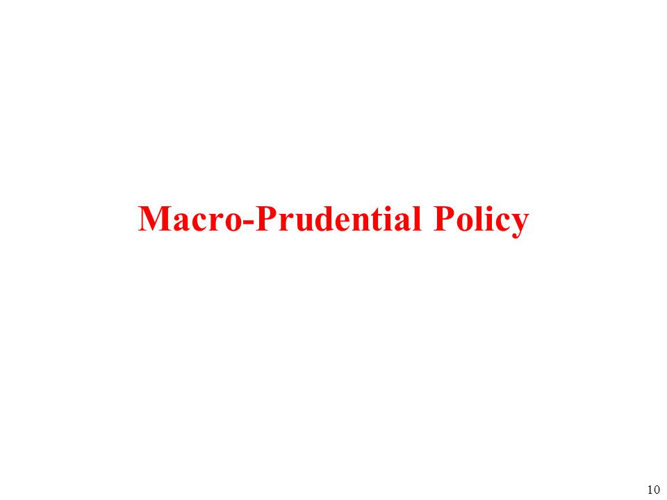10 Macro-Prudential Policy