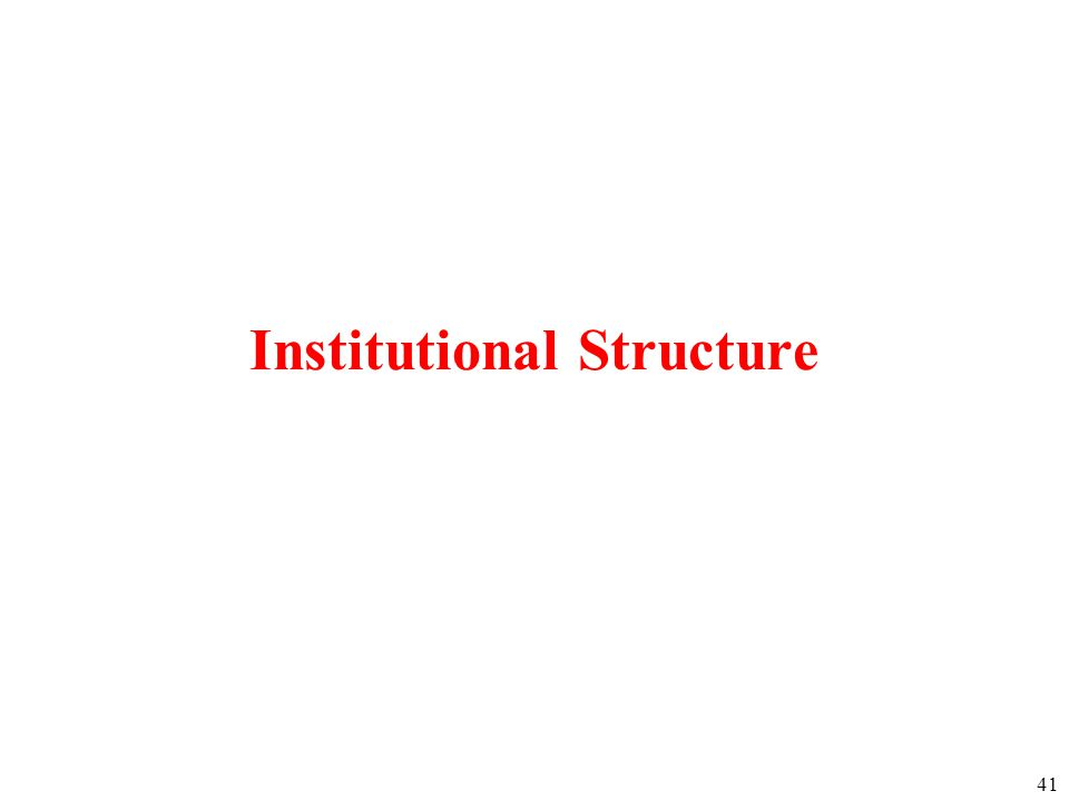 41 Institutional Structure