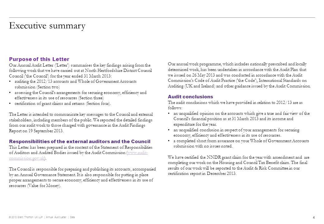 © 2013 Grant Thornton UK LLP | Annual Audit Letter | Date © 2013 Grant Thornton UK LLP.