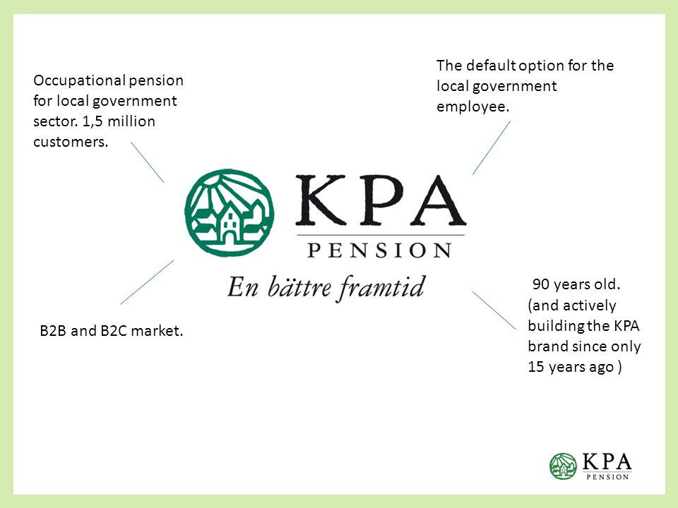 90 years old. (and actively building the KPA brand since only 15 years ago ) B2B and B2C market.