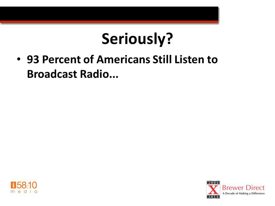 Even Christian radio?