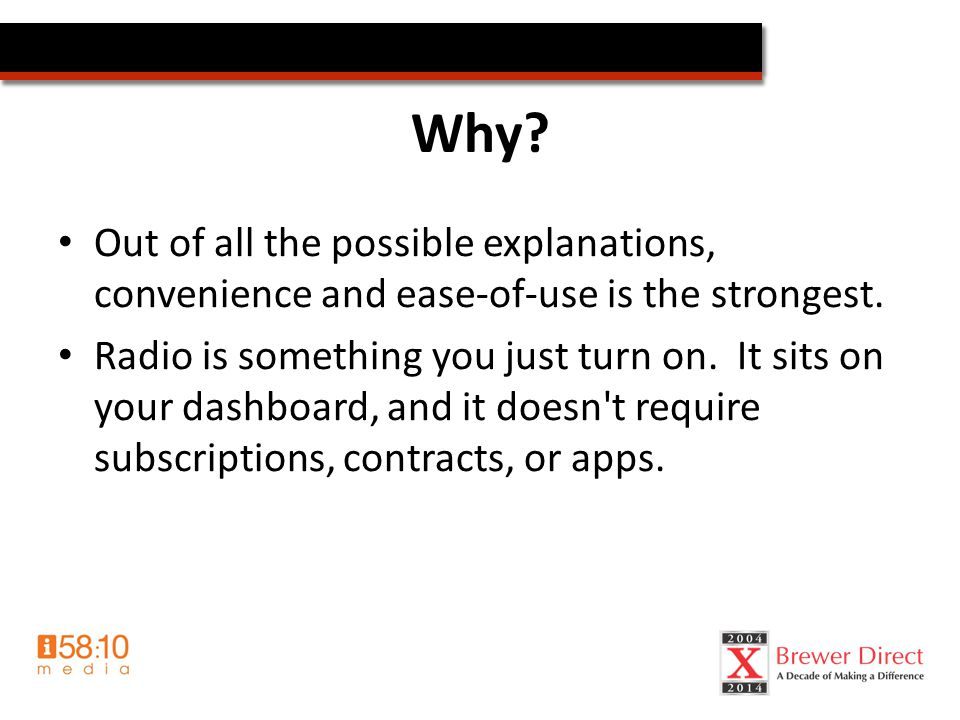 Radiothon Results Learnings/Trends – Relationship w/ station matters Different formats benefit you in different ways, use the format to your advantage For fundraising develop relationships with stations that target 35+ females The PD is the gatekeeper, then the Hosts