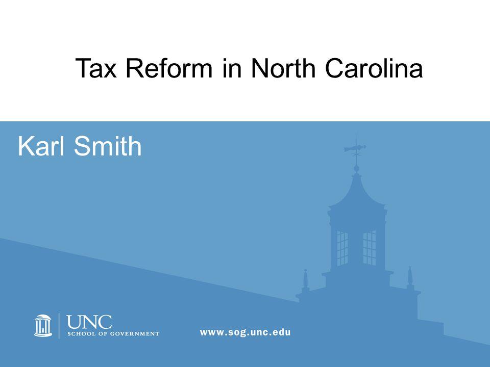 Karl Smith Tax Reform in North Carolina