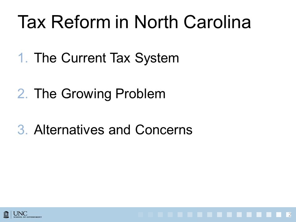 1.The Current Tax System 2.The Growing Problem 3.Alternatives and Concerns 2