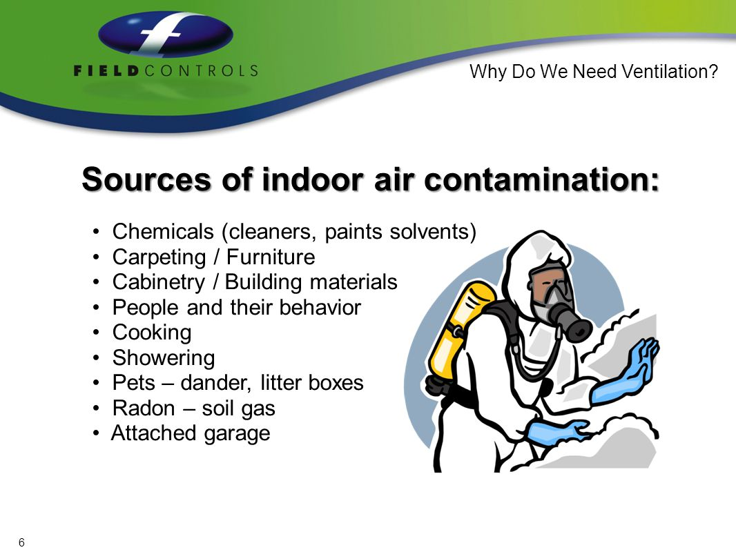 The Result: Indoor air can be up to 100 times more polluted than outdoor air.