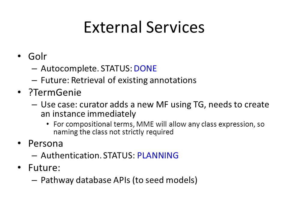 External Services Golr – Autocomplete.