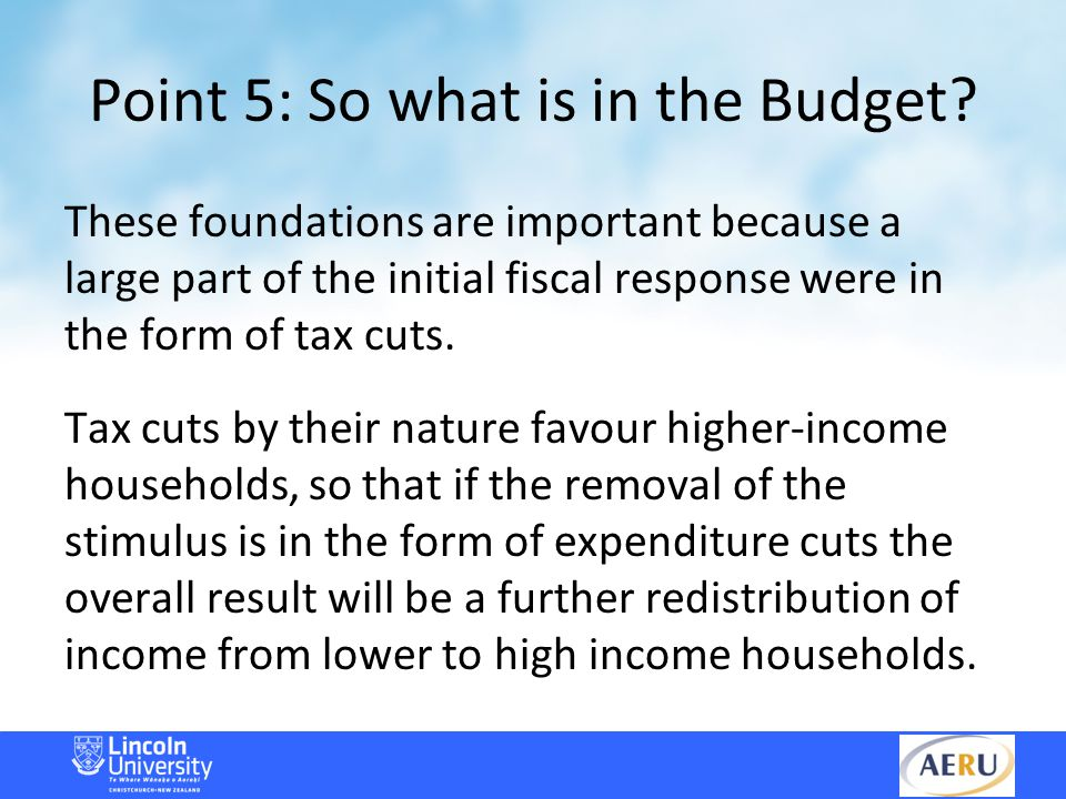 Point 5: So what is in the Budget.
