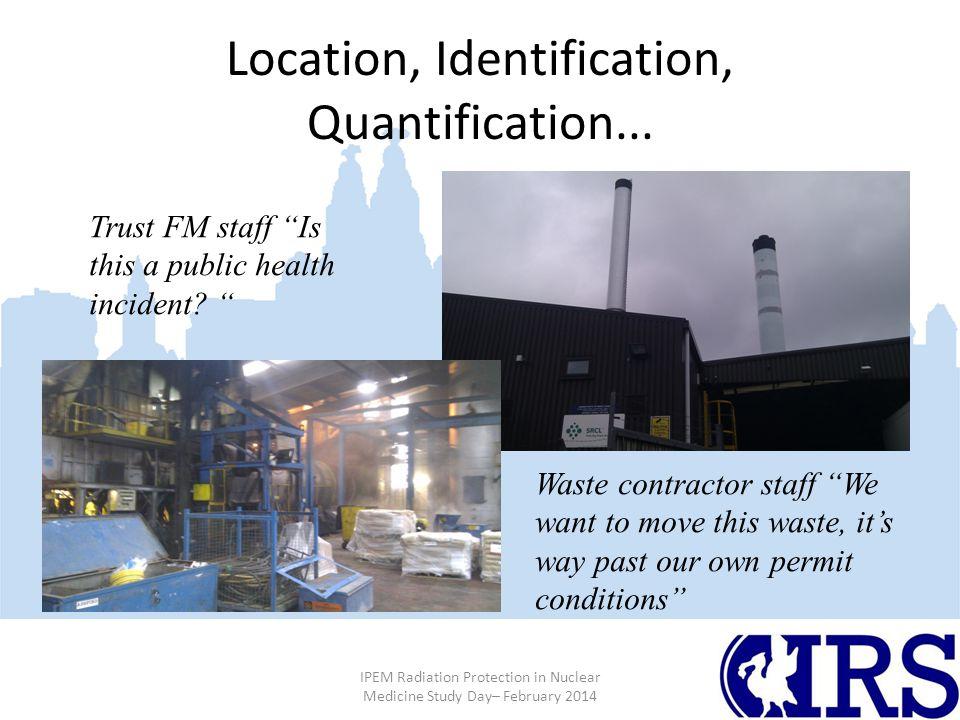 Location, Identification, Quantification...