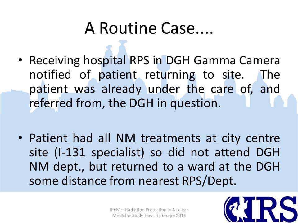 A Routine Case....
