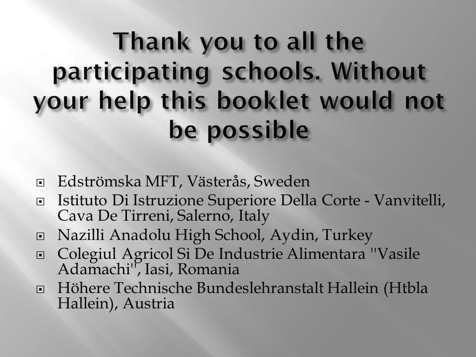  Edströmska MFT, Västerås, Sweden  Istituto Di Istruzione Superiore Della Corte - Vanvitelli, Cava De Tirreni, Salerno, Italy  Nazilli Anadolu High